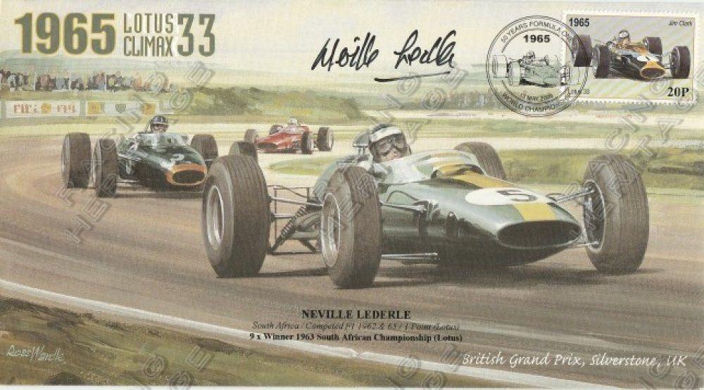South African Neville Lederle autographed envelope 1965