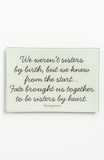 Ben S Garden We Weren T Sisters Trinket Tray Nordstrom Sister Love Quotes Sister Quotes Bff Quotes