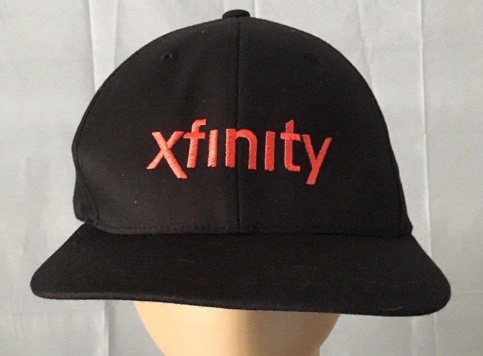 COMCAST Xfinity Hat Sz XL XXL Black Unisex FLEX FIT Baseball