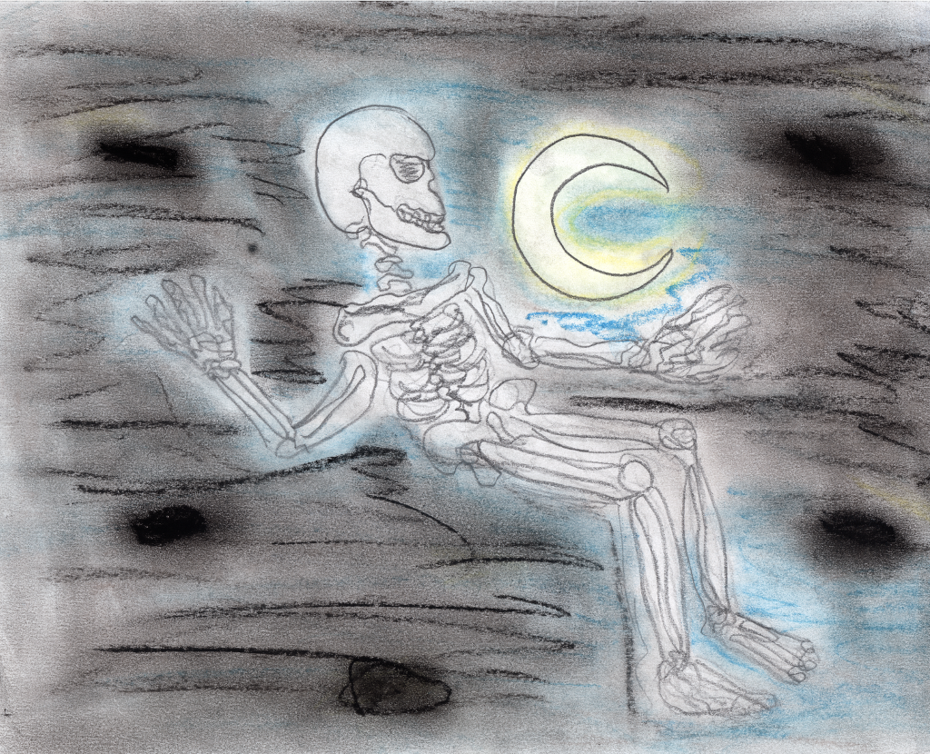 Skeleton and the Moon