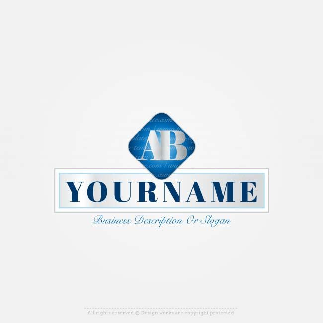 Create 2 letters logo design Online with Our Free Alphabet logo - text logo template