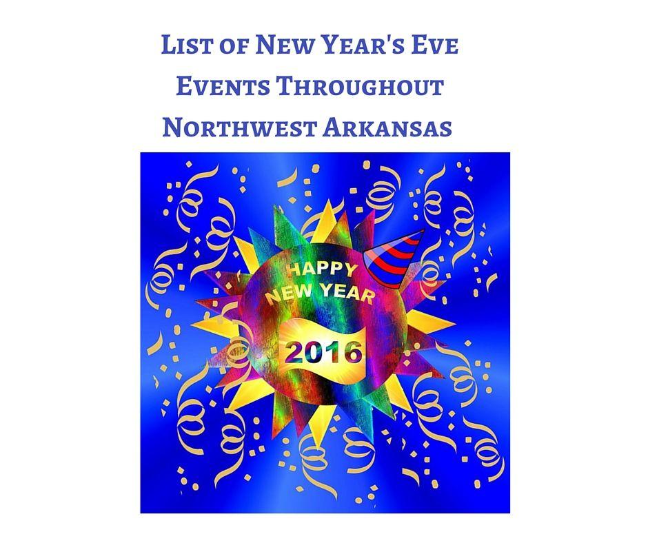 New Year's Eve Celebrations in Northwest Arkansas Happy