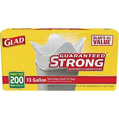 Wonderful 200 CT Glad Kitchen Trash Bags : Only $12.99