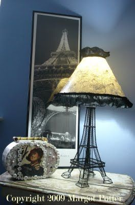 La Tour Eiffel Decoupage Lampshade Eiffel Tower Lamp Tour Eiffel Paris Themed Bedroom
