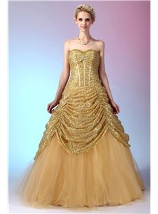 Discount Sweetheart Neck Shawl Floor-length Champagne Nastye's Quinceanera Dress