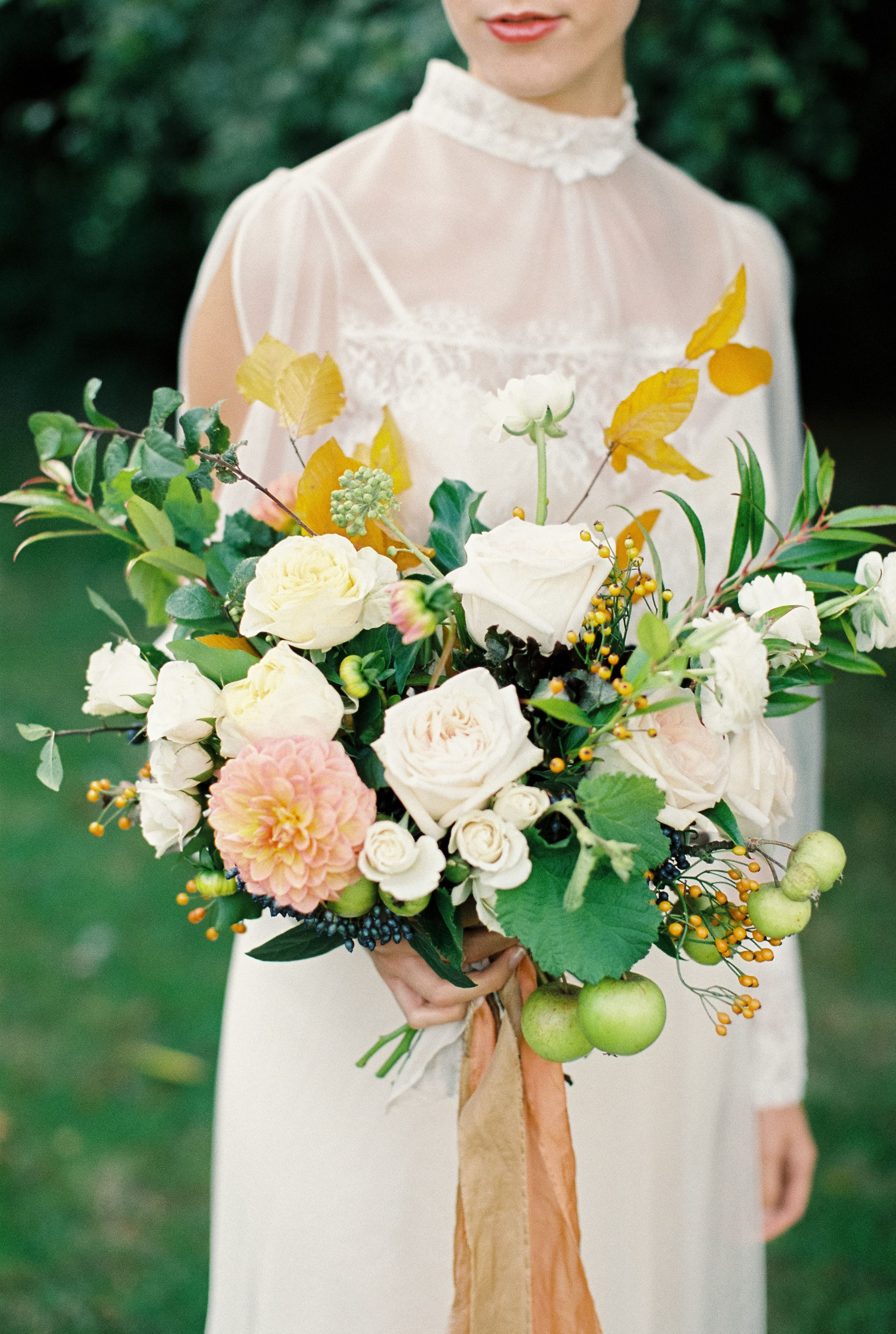 Autumnal wedding flowers, bouquet, florist Bramble and Wild, Bowtie ...