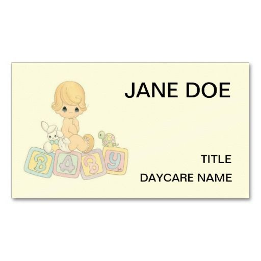 cute baby daycare center childcare doublesided standard business cards pack of 100