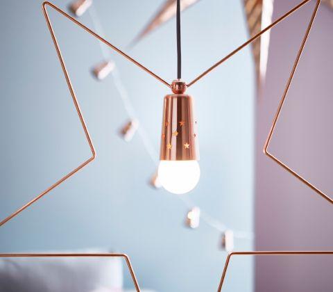 Ikea Star Shaped Pendant Lamp In Bronze Colour Luz Y Sombra