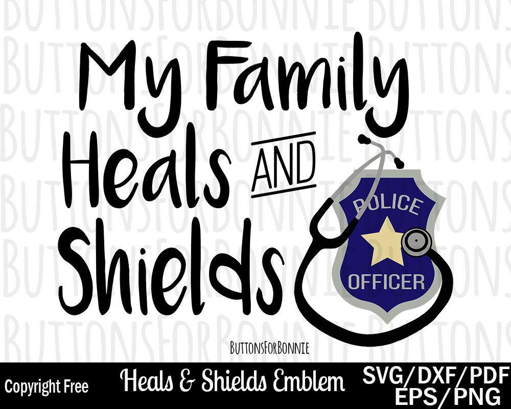 Nurse svg, police svg, heals and shields svg, cut file, nursing svg