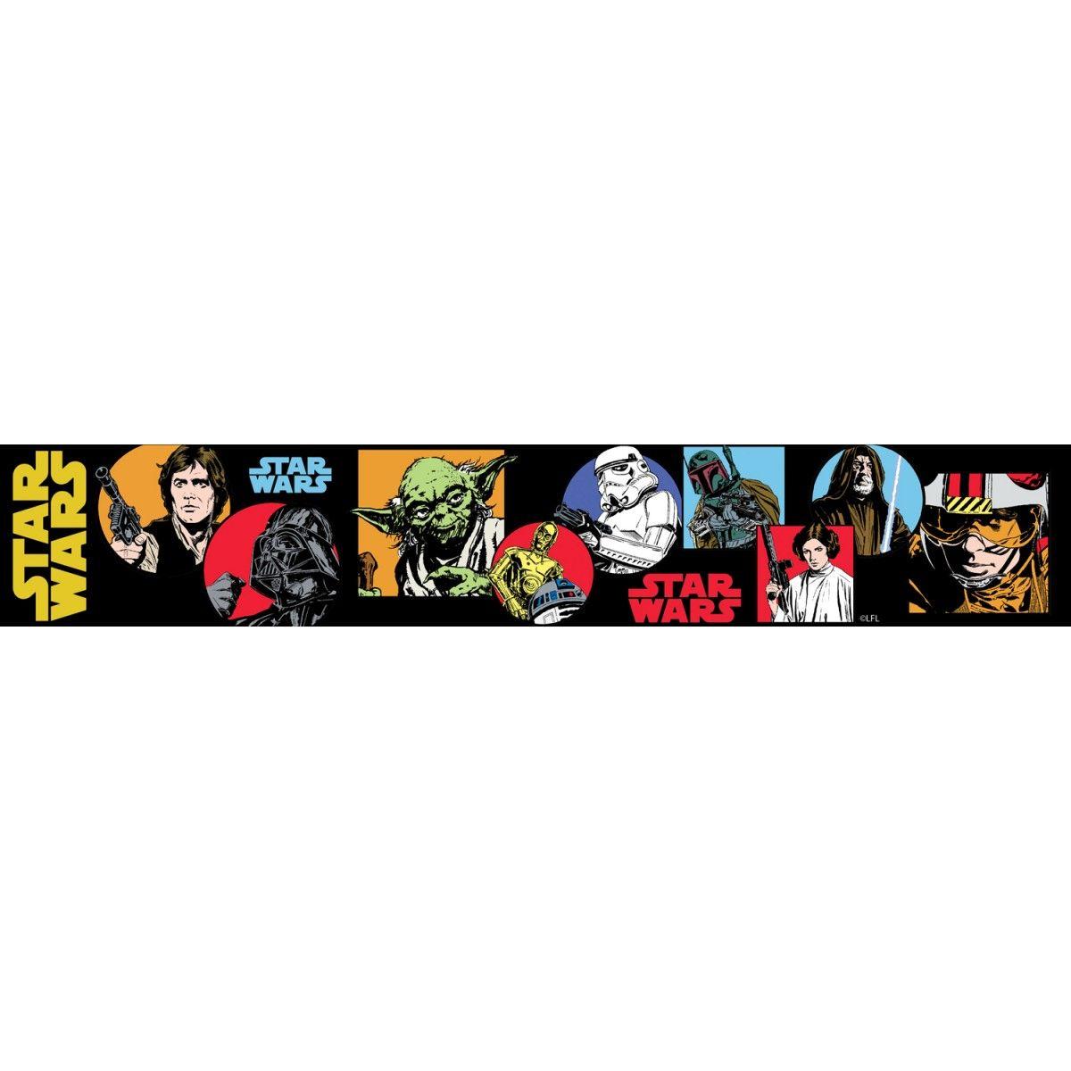 Star Wars Cartoon Self Adhesive Wallpaper Border 5m Star Wars Cartoon Star Wars Wallpaper Star Wars Tattoo