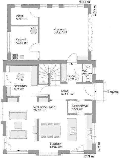 Wohn /Essbereich Größer, Aufteilung Gut
