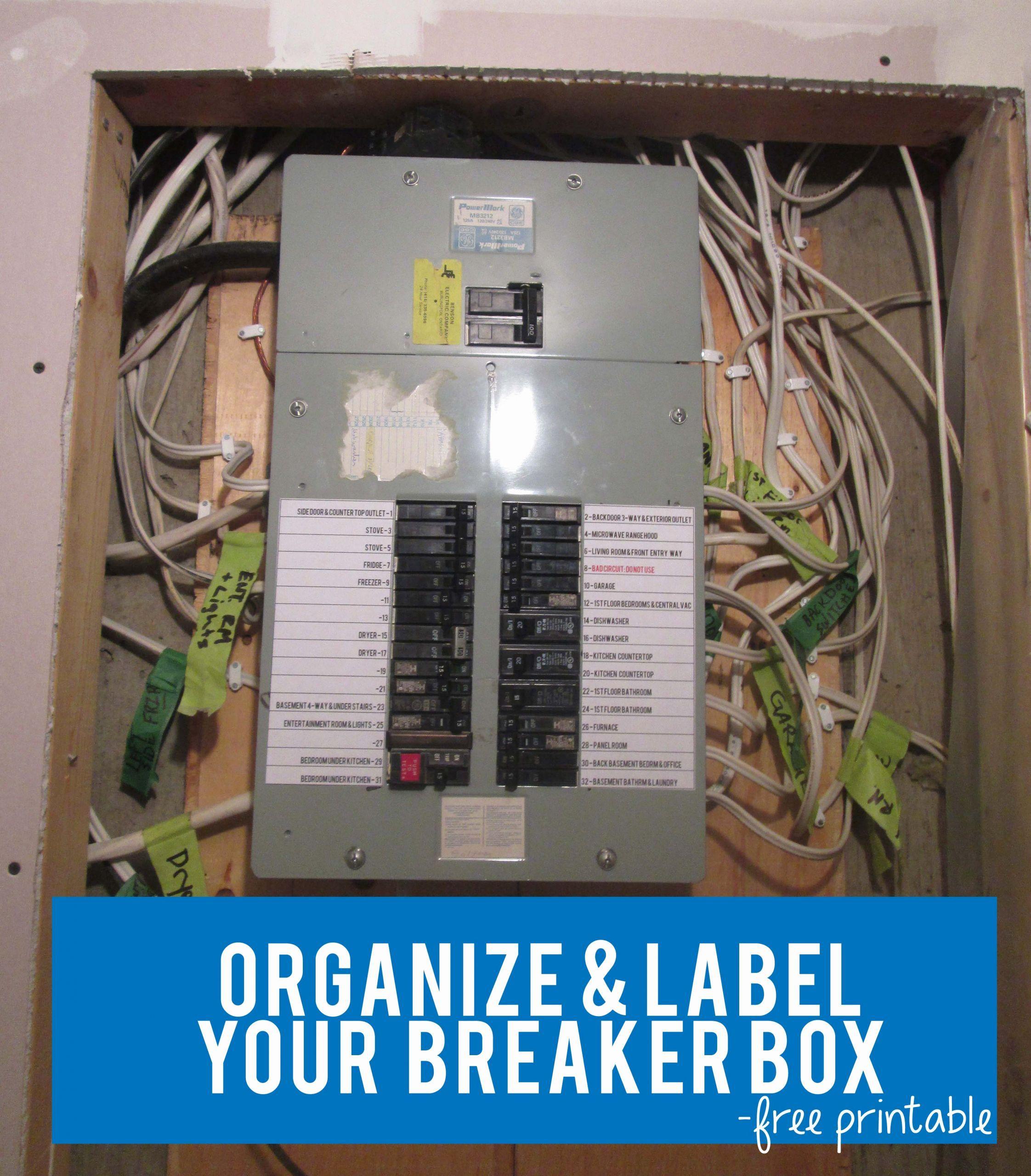 Circuit Breaker Panel Label Template Best Of Free Printable Circuit Breaker Panel Labels Made Label Templates Organizing Labels Return Address Labels Template