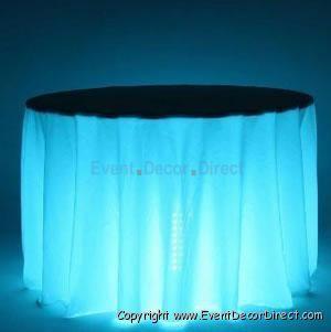 Under Table Lighting For Evening Wedding Light Table Wedding