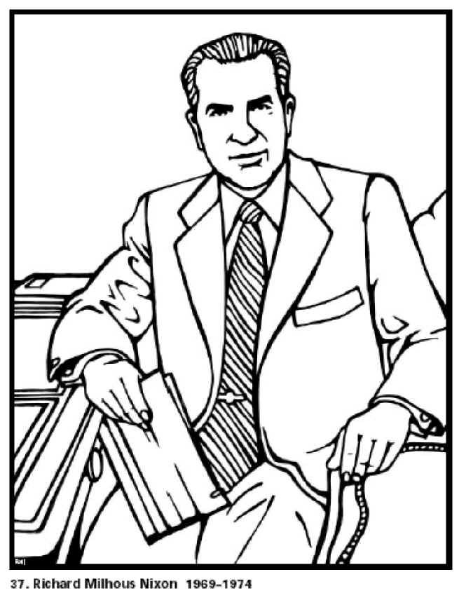 richard nixon our 36president of the united states free printable coloring sheet click to