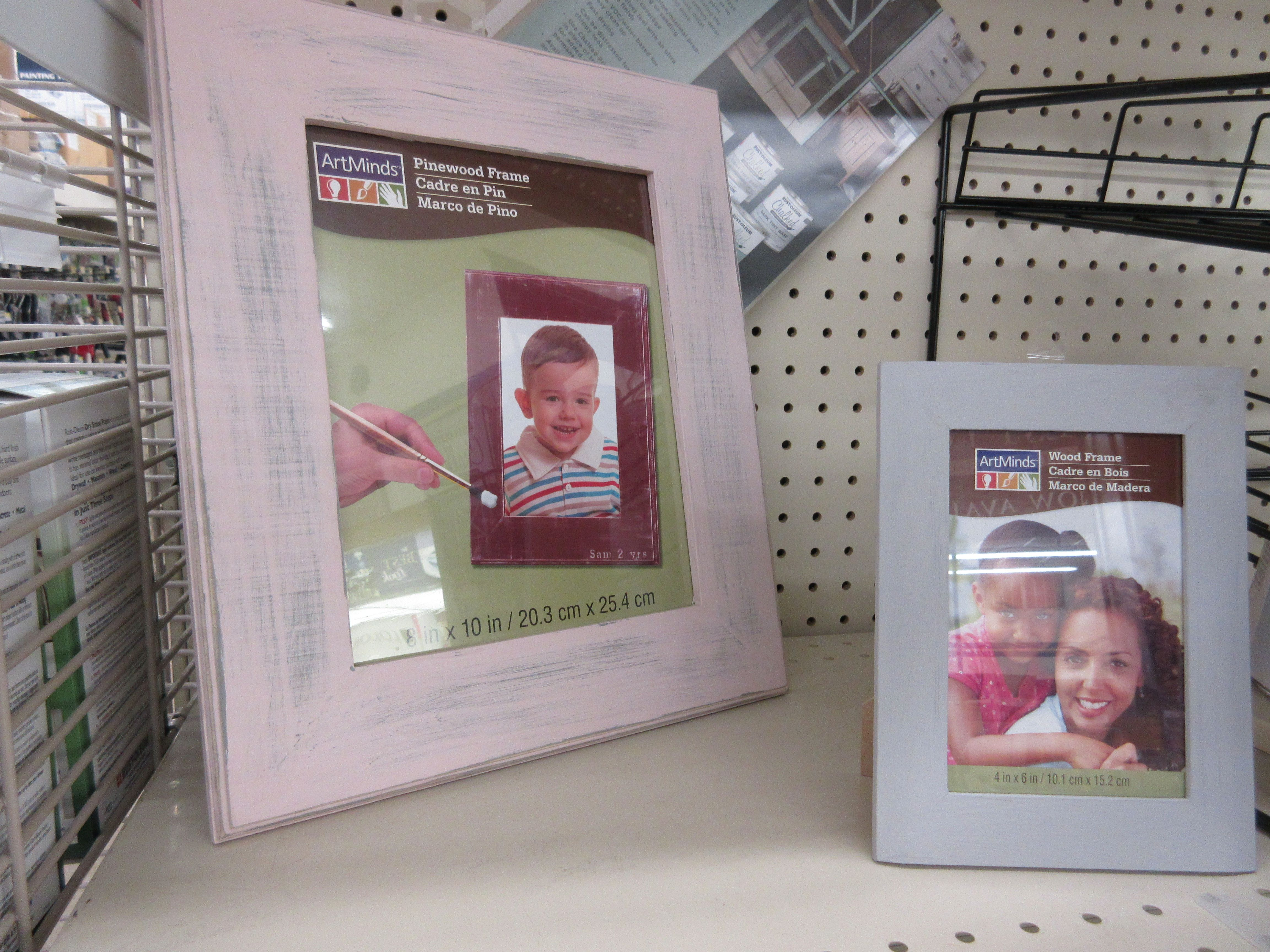 4 x 6 frame is Aged Gray Chalk paint by Rustoleum. 8 x 10 frame is ...