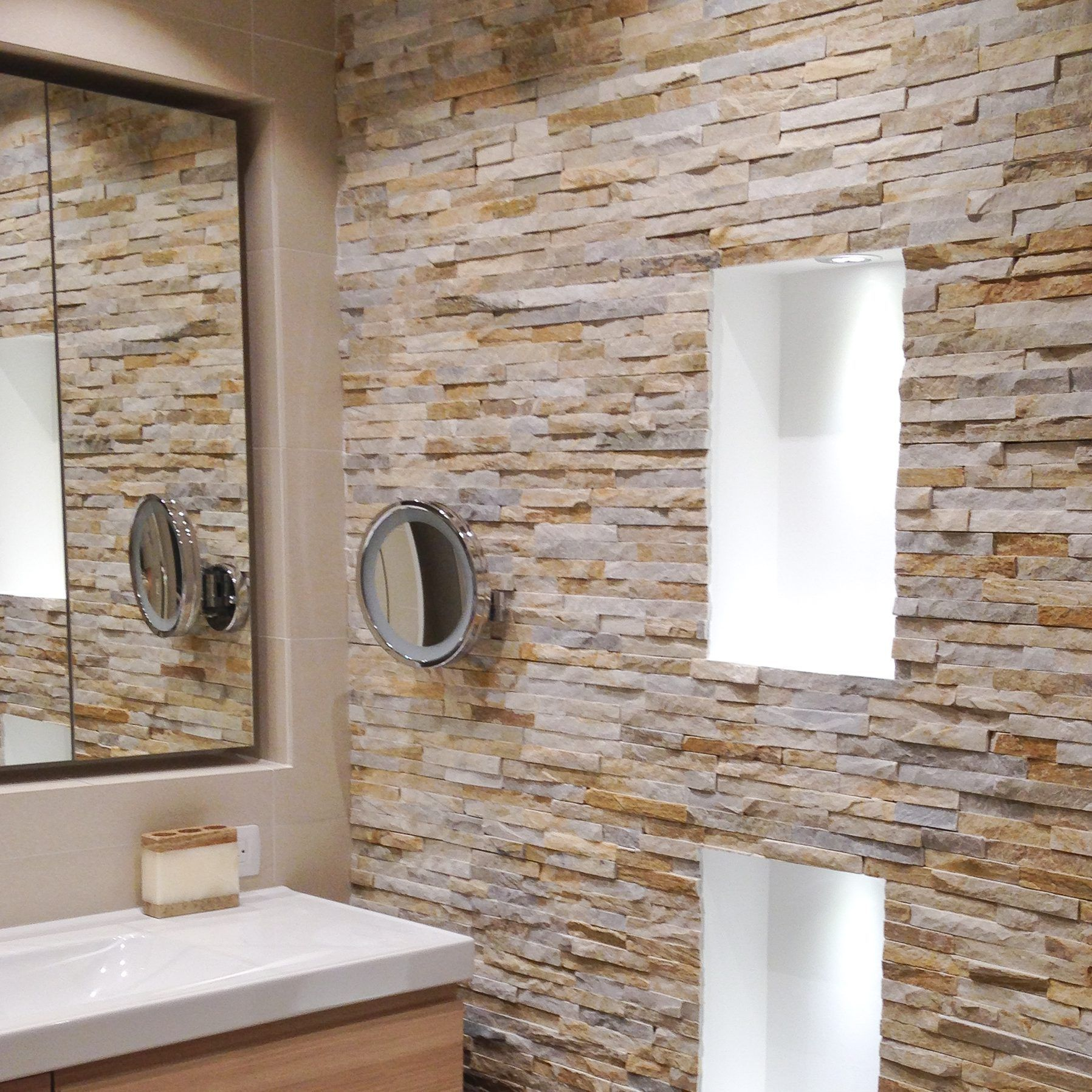 how to install stacked stone tile on drywall  stone tile