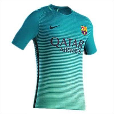 Tercera Equipacion Camiseta Barcelona 2016 2017 Qatar Airway  7418bb7a00c