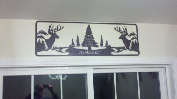 Deer Custom sign personalized with your name. by SCHROCKMETALFX, $60.00