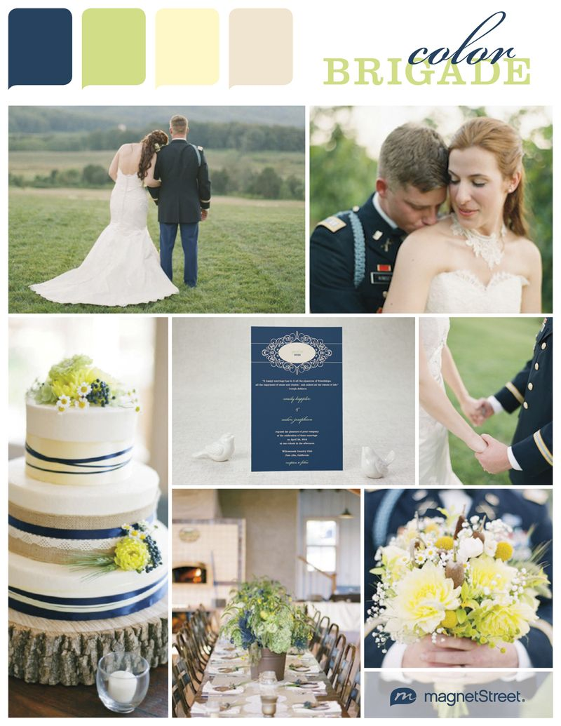 color monday military wedding inspiration color palettes pinterest farbkonzept. Black Bedroom Furniture Sets. Home Design Ideas