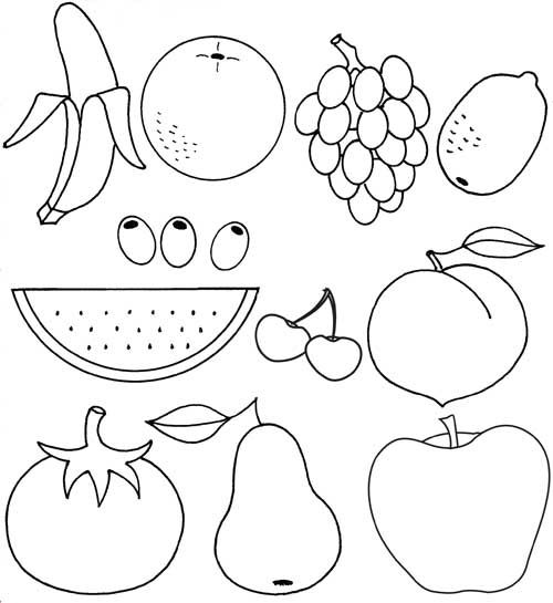 Fruits  Kids Coloring Pages  Pinterest  Coloring pages