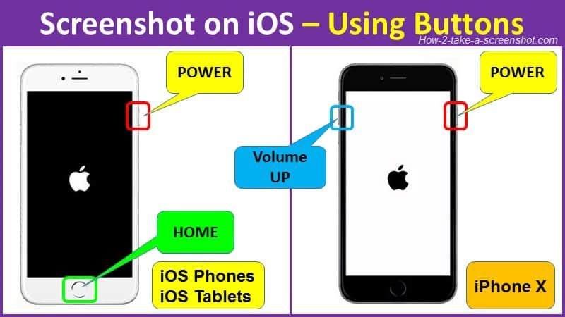 how to screenshot on ios using buttons Words with