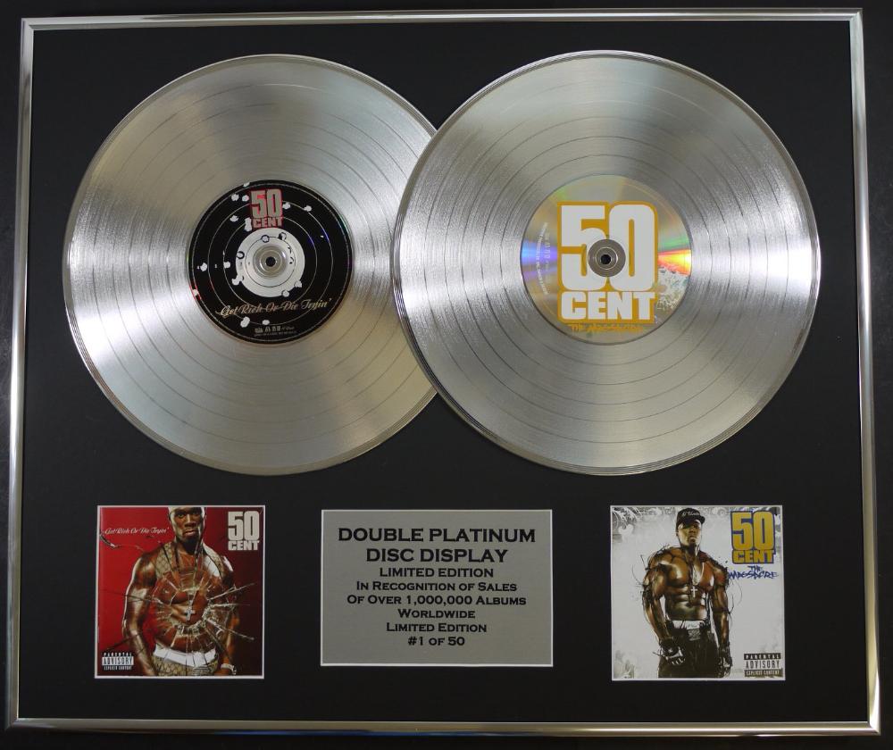 Platinum Album Plaques Album Double Platinum Music Record