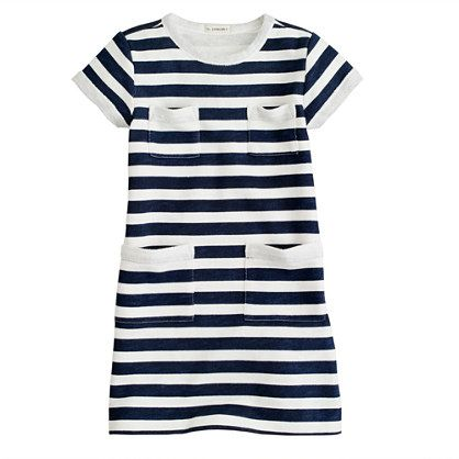 S Sweatshirt Pocket Dress In Stripe Everyday Dresses
