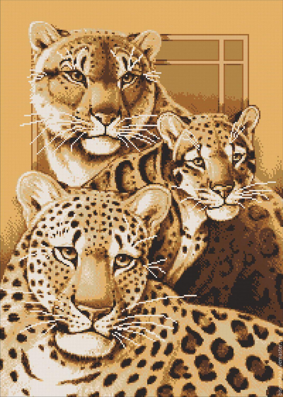 Схемы для вышивок дикие кошки
