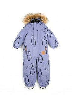 74a67d392 MINI RODINI Alaska Snowsuit / Penguins | Kids | Kids fashion, Snow ...