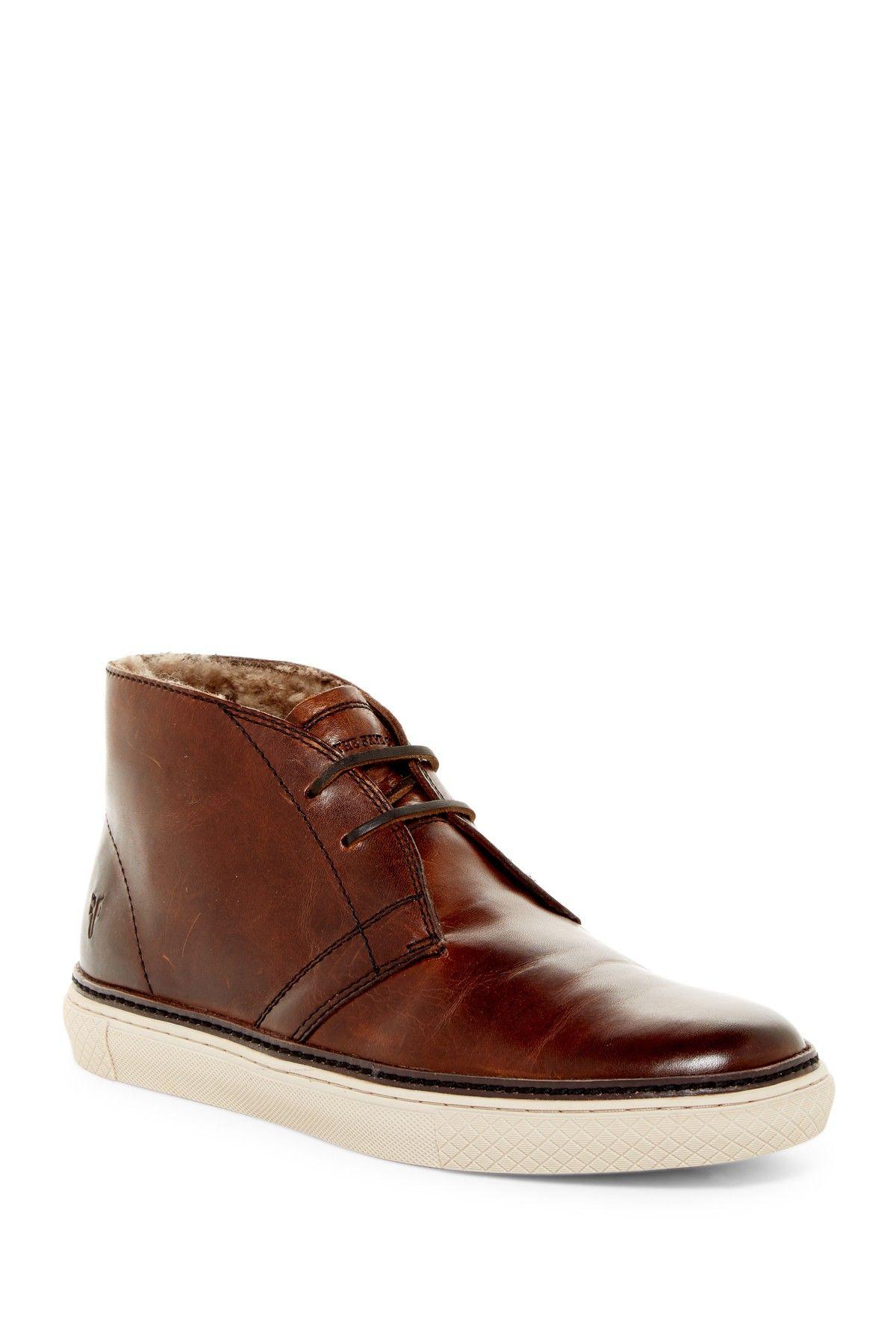 Frye Gates Genuine Shearling Lined Chukka Sneaker