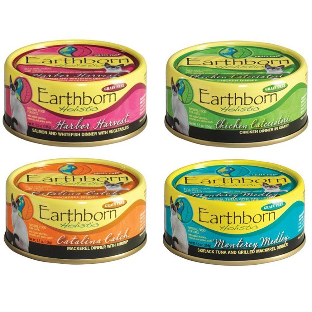 Earthborn Holistic Wet Cat Food Variety Pack 4 Flavors