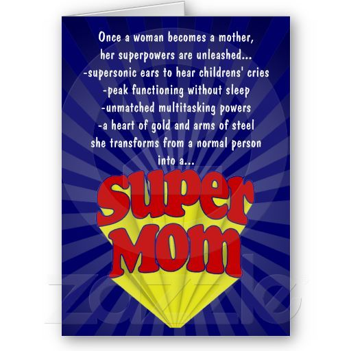 Funny Mother S Day Cards Super Mom Super Mom Mom Cards Funny Mothers Day
