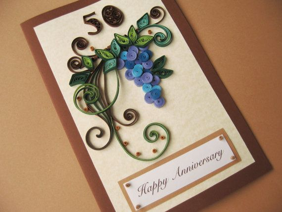 Happy th birthday card for husband dad handmade paper quilling any age made to order also rh ar pinterest