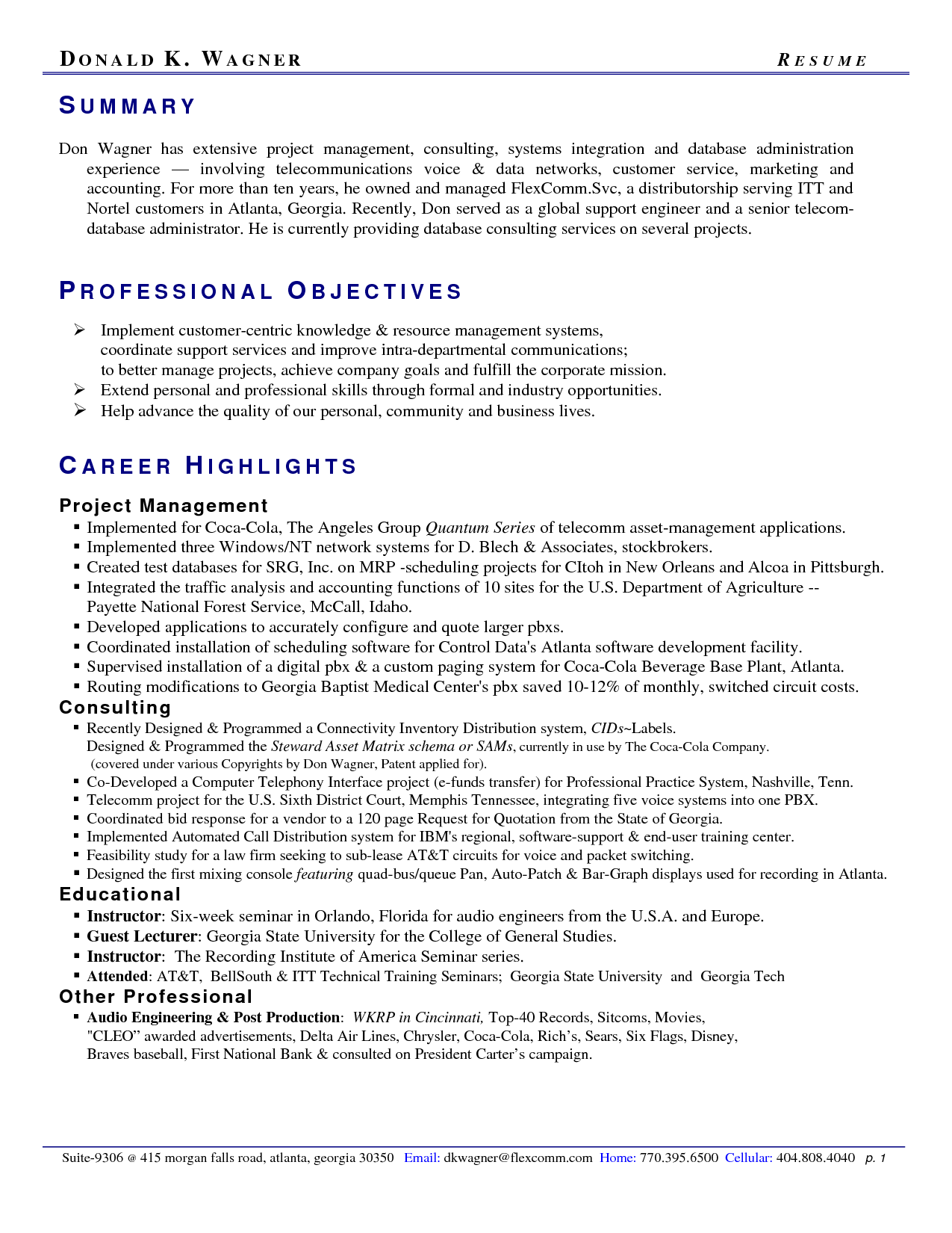 Amazing Resume Professional Summary Statement Writing Sample