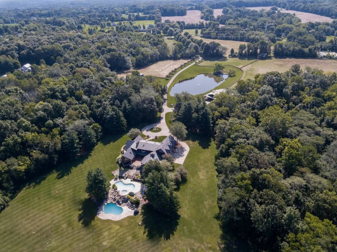 Equestrian Estate For Sale In Warren County Ohio Exquisite Custom Built Oasis With Gated Entry On Nearly 50 Acres Entry Gates Equestrian Estate Patio Stones