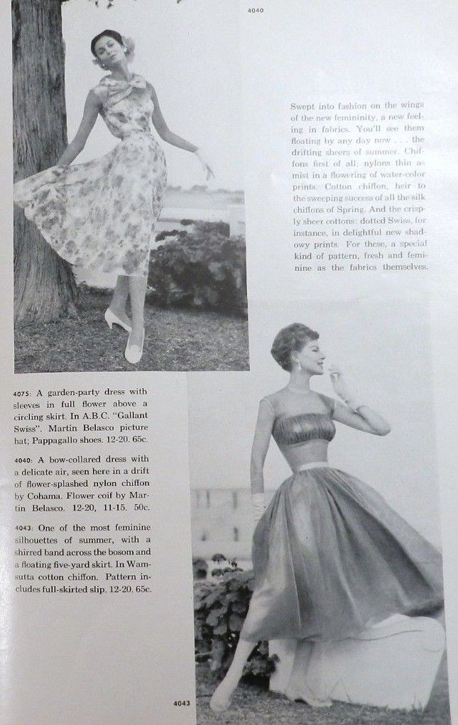 McCall\'s 4040 and 4043 in McCall\'s Pattern Book, Summer 1957 ...