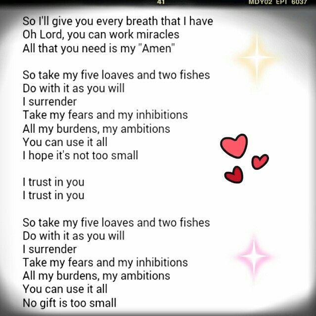 Five Loaves And Two Fishes Lyrics - Song Lyrics | MetroLyrics