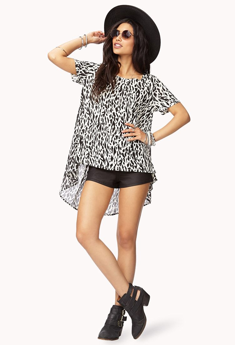 Animal Instinct High-Low Top | FOREVER21 - 2000050798