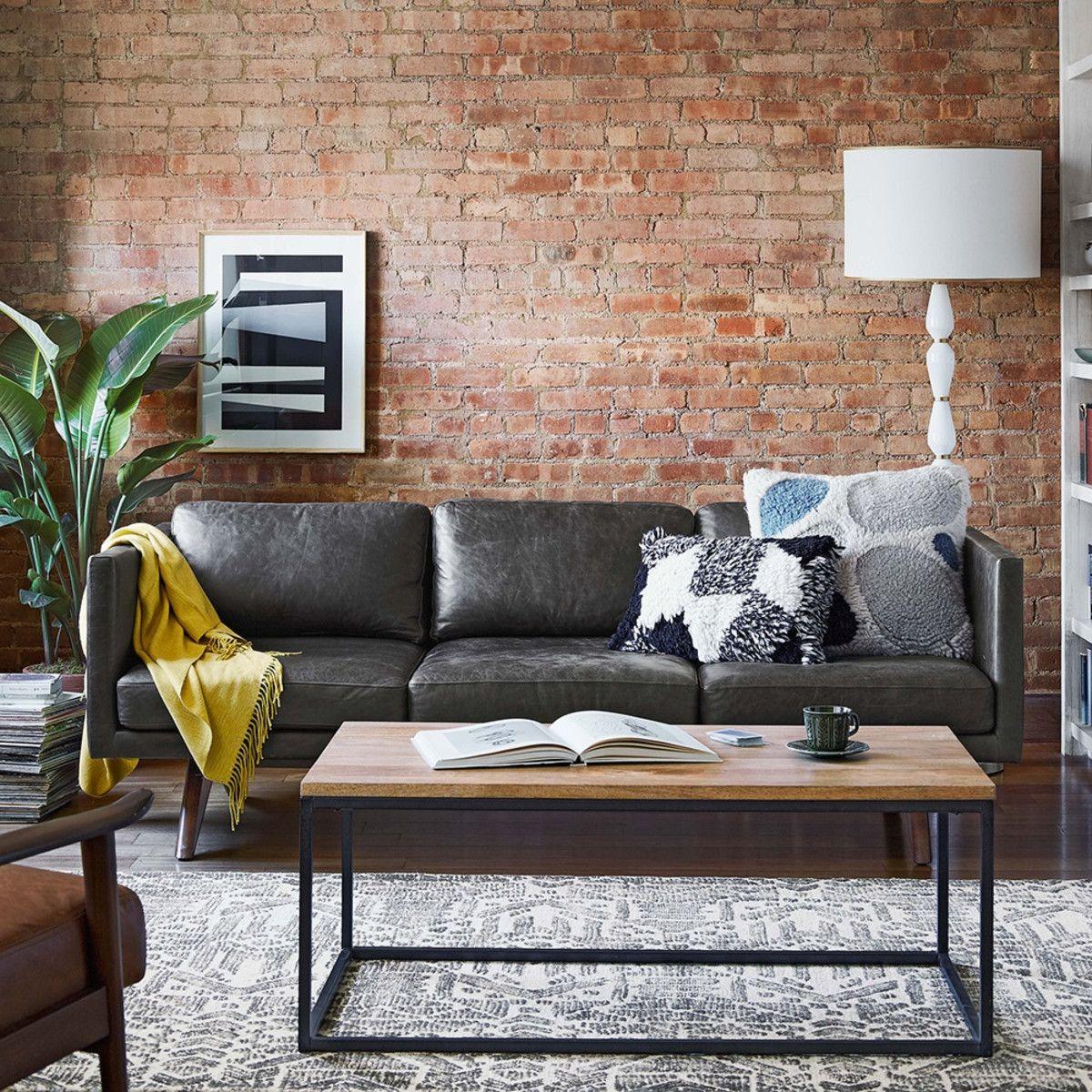 Brooklyn Leather Sofa (206 Cm)