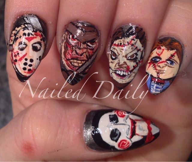 Horror Movie Killers   Nails: Movies   Pinterest   Diseños de uñas ...