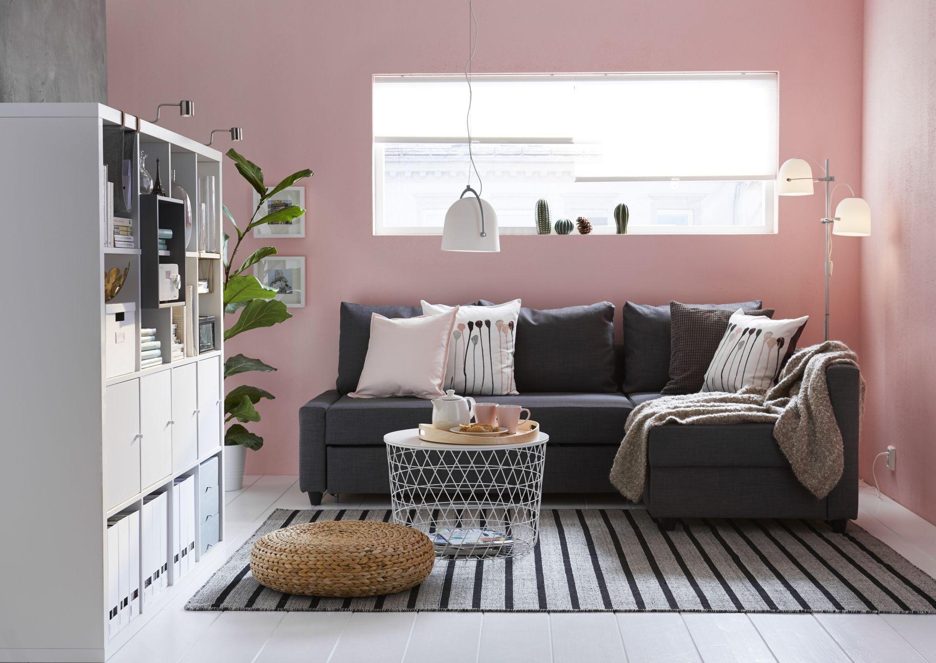 FRIHETEN Sofá cama esquina con almacenaje - Skiftebo gris oscuro
