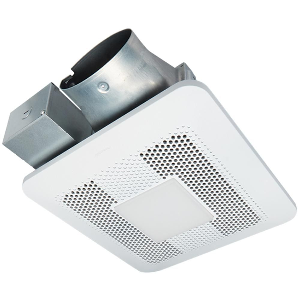 Panasonic Whisperthin Pick A Flow 80 Or 100 Cfm Exhaust Fan With Led Light Low Profile Ceiling Or Wall And 4 In Oval Duct Adapter Fv 0810rsl1 The Home Depot Exhaust Fan Led Lights