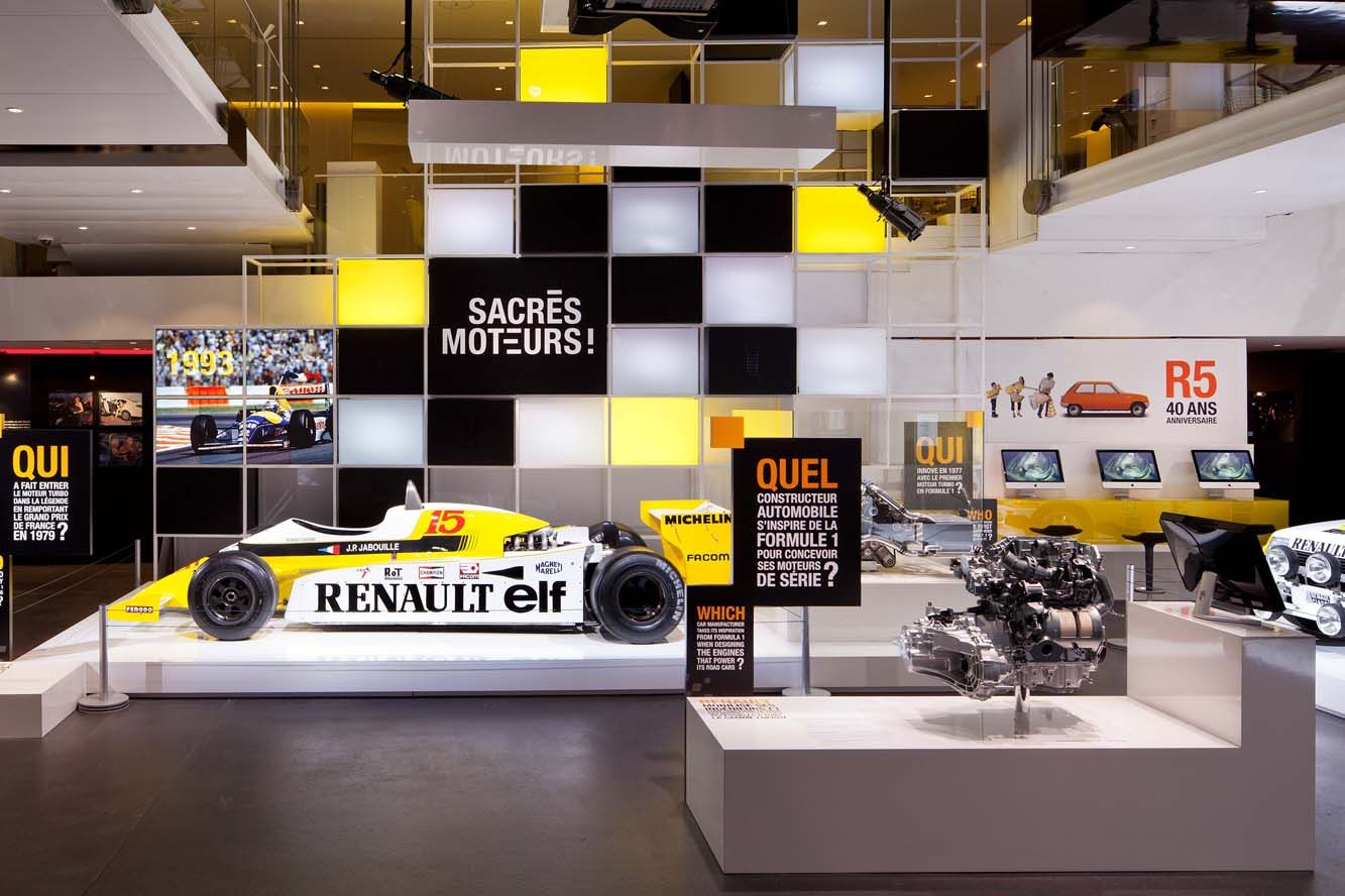 l atelier renault c l bre la formule 1 exhibition design pinterest renault atelier et. Black Bedroom Furniture Sets. Home Design Ideas
