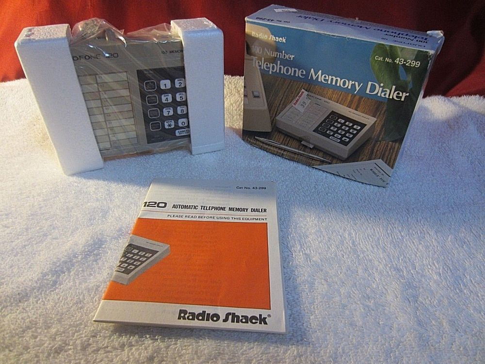 Vintage Radio Shack DuoFone 100 Number Dial Telephone