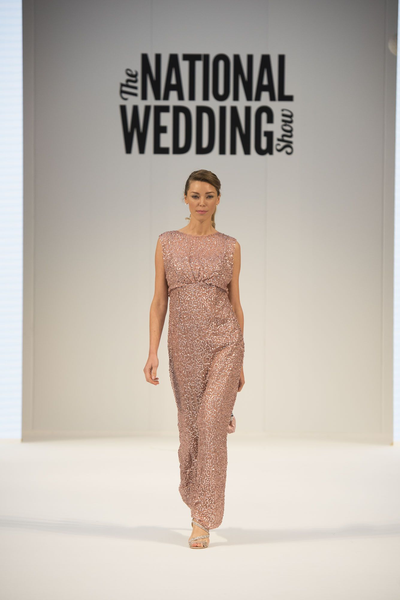 Key trends from the national wedding show autumn 2015 debenhams high drama sequinned bridesmaid dress no1 jenny packham at debenhams pink ombrellifo Image collections