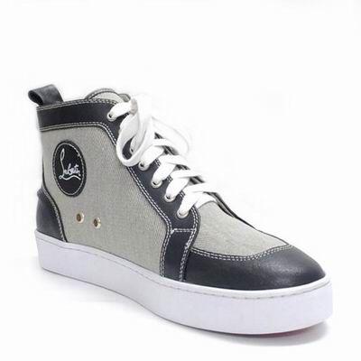 Christian Louboutin Pony Sneakers Men Black Grey Sneaker Head