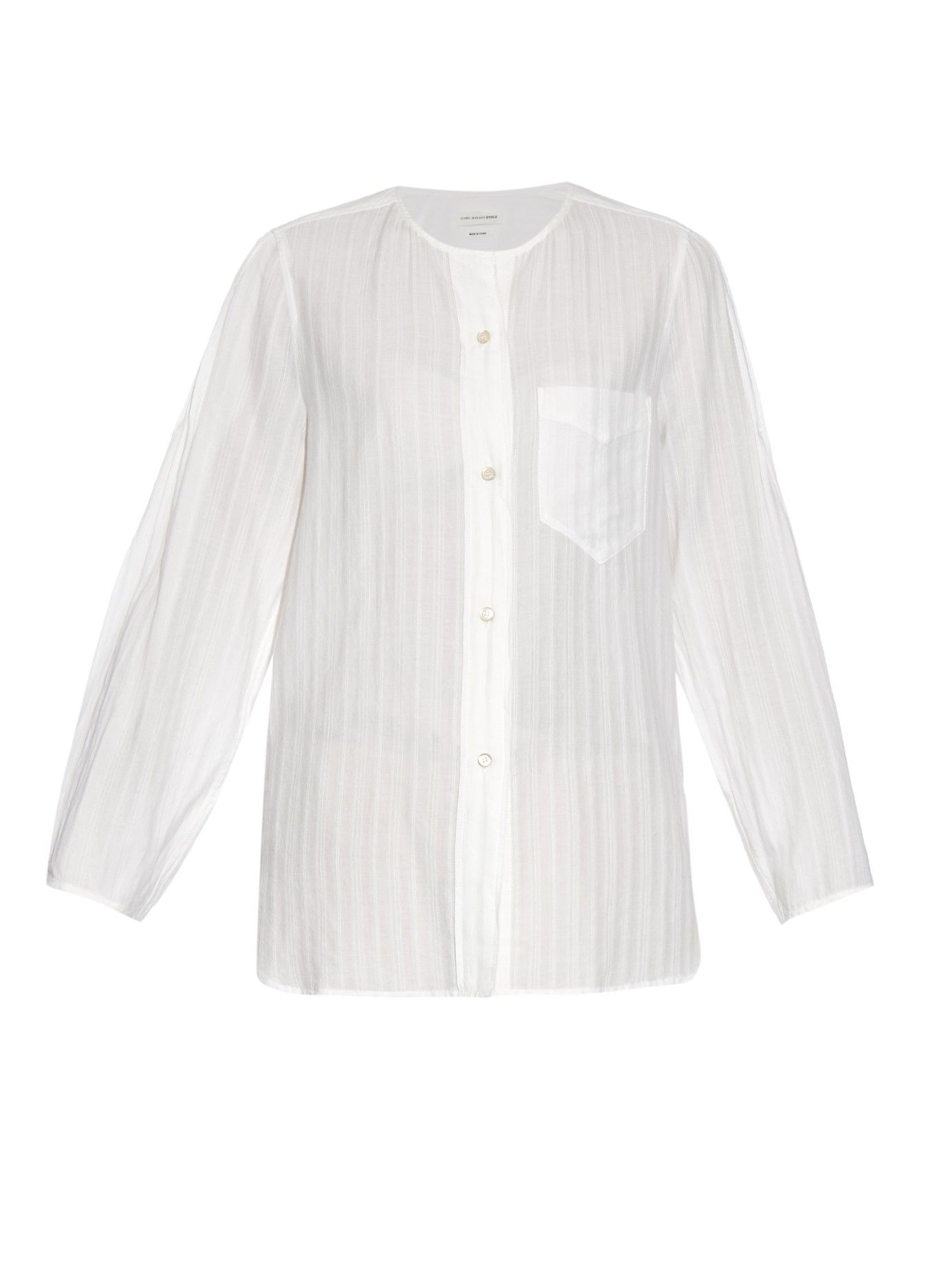 Nell pinstripe cotton-blend shirt | Isabel Marant Étoile | MATCHESFASHION.COM AU #stylingmrsoliver.com