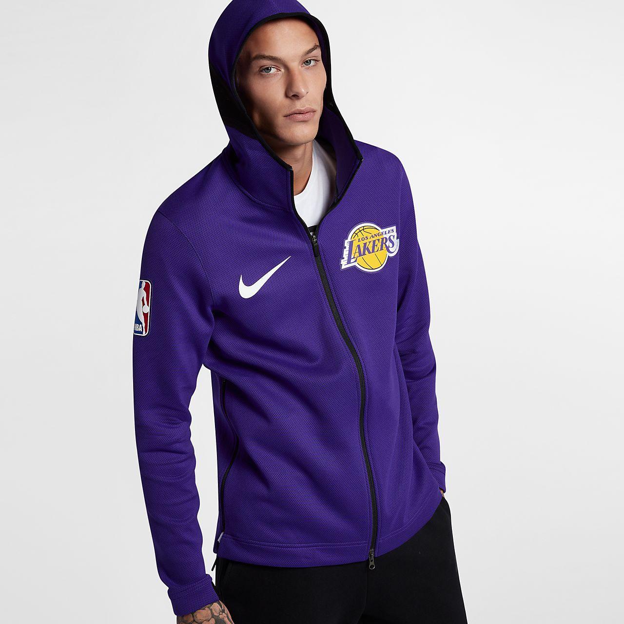 Los Angeles Lakers Nike Therma Flex Showtime Men S Nba Hoodie Los Angeles Lakers Athletic Jacket Hoodies