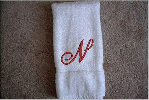 Wedding Gift Anniversary Gift Personalized Monogram Decorative Kitchen Towel