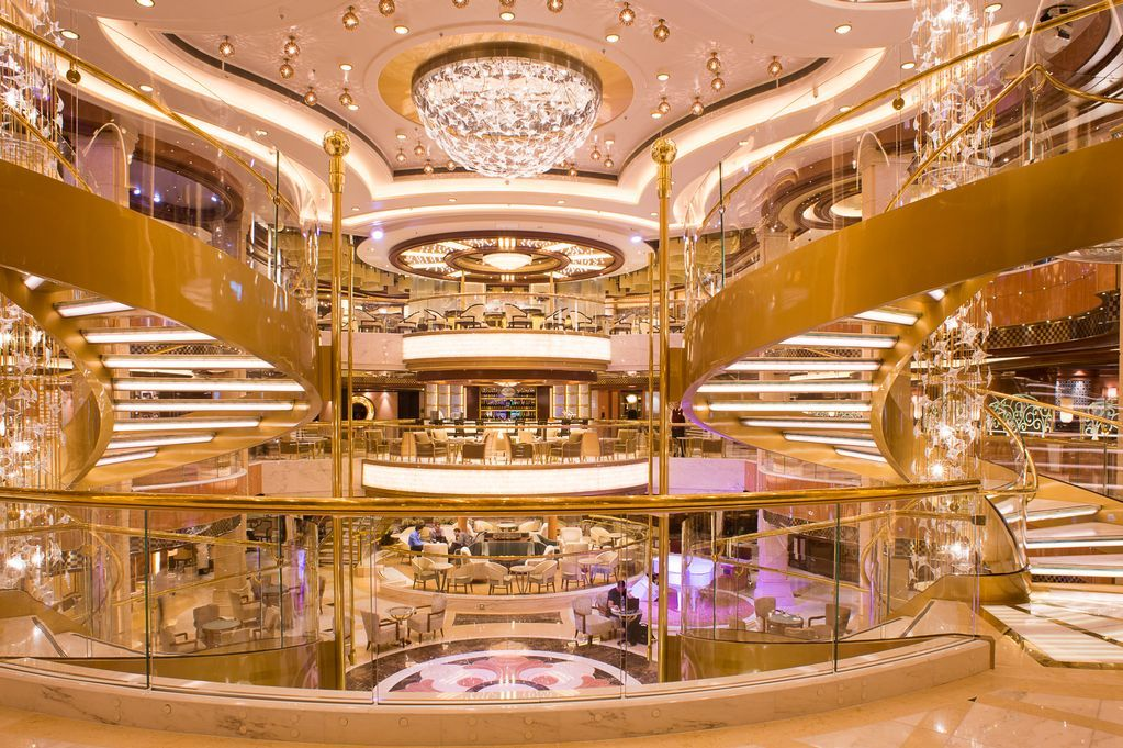 Look Inside The Royal Princess Cruise Ship As She Returns To - The inside of a cruise ship
